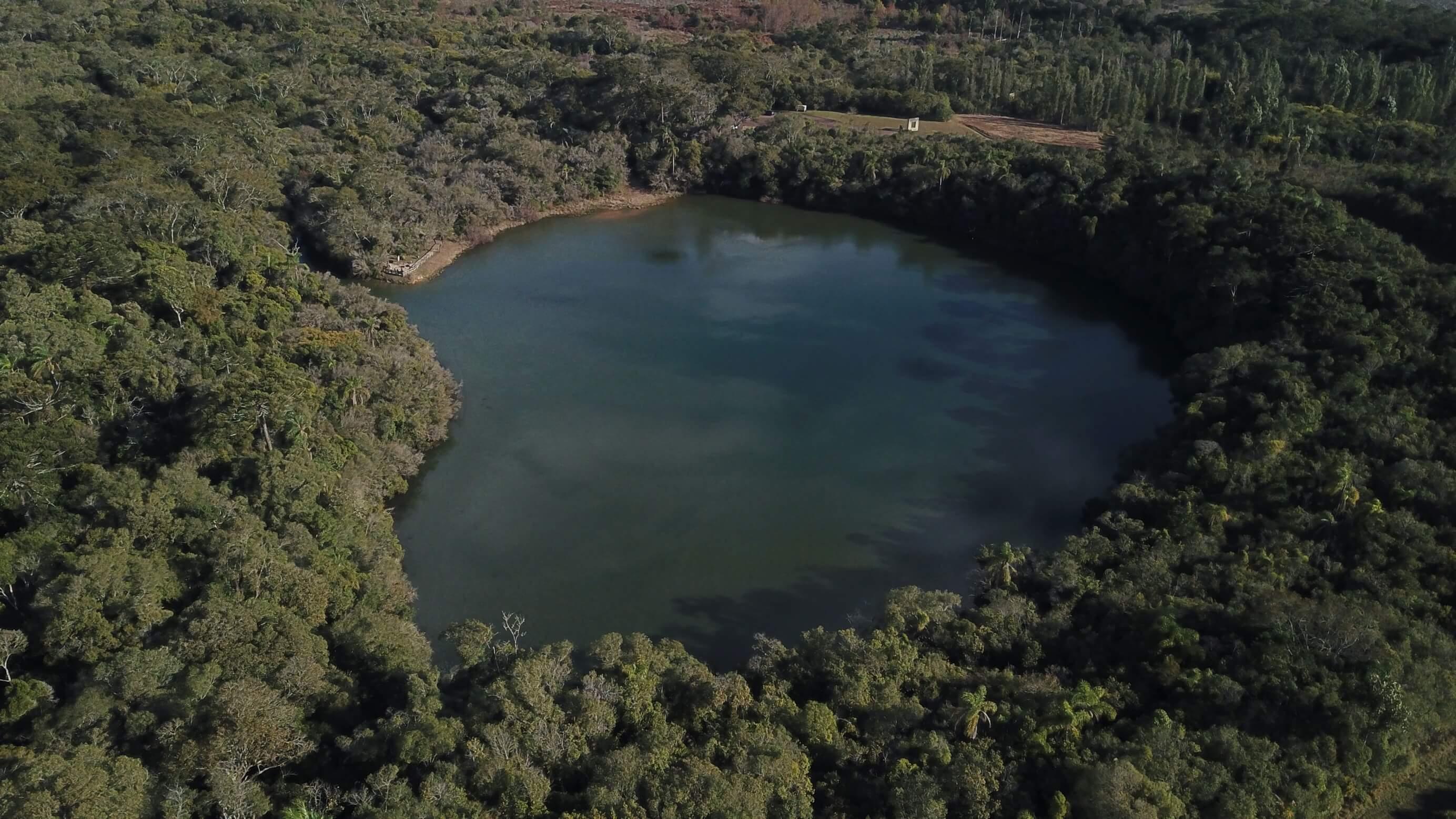 Lagoa Dourada vista de cima