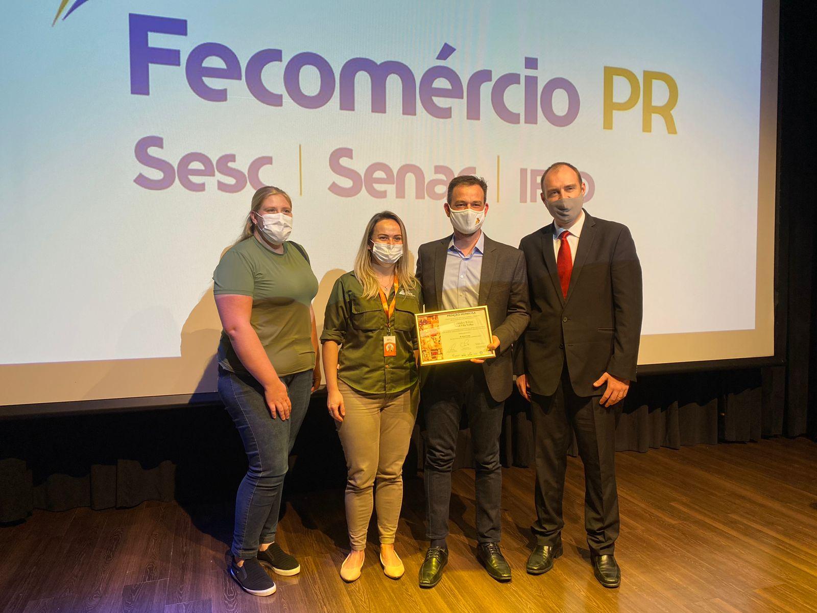 Gestor da Soul Vila Velha é homenageado pela Fecomércio PR
